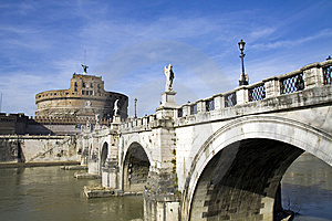 St. Angel Castle In Rome Royalty Free Stock Photos - Image: 13685828
