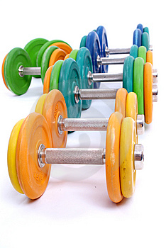 Dumbbells Stock Photo - Image: 13686260