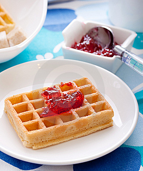 Tasty Waffles Royalty Free Stock Photography - Image: 13687467