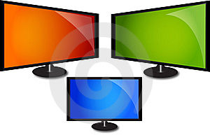 Lcd Monitor Royalty Free Stock Images - Image: 13688359