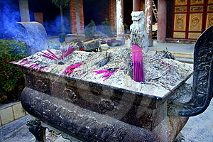 Incense Altar Royalty Free Stock Image - Image: 13688466