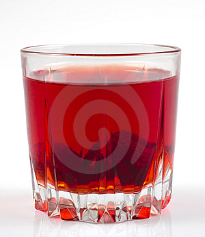 Glass Of Strawberry Stewed Fruit Royalty Free Stock Image - Image: 13688706