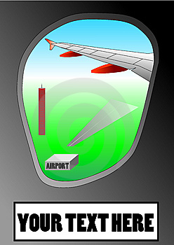 Vector Illustration Of Airplane Window Stock Image - Image: 13689021