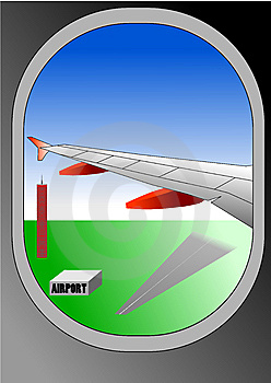 Vector Illustration Of Airplane Window Stock Images - Image: 13689024