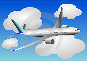 Vector Illustration Of Airplane Or Airbus Plane Stock Photos - Image: 13689033