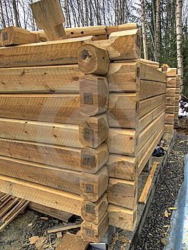 Log Cabin Stock Image - Image: 13689411