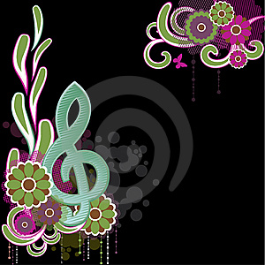 Background With Treble Clef.Vector Illustration Royalty Free Stock Photography - Image: 13689877