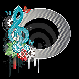 Background With Treble Clef.Vector Illustration Royalty Free Stock Image - Image: 13689896