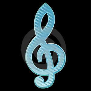 Treble Clef.Vector Illustration Stock Image - Image: 13689921