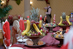 Dessert On The Served Table Stock Images - Image: 13690734