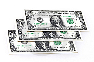 Three Dollars Royalty Free Stock Photography - Image: 13690947