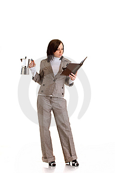 Business Woman With Timer Stock Images - Image: 13692344