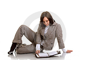 Business Woman With Timer Stock Photo - Image: 13692410