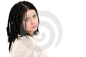 Young Teenage Girl With Braided Hair Royalty Free Stock Image - Image: 13692486
