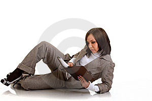 Business Woman With Timer Stock Photography - Image: 13692532