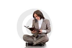 Business Woman With Timer Stock Image - Image: 13692591