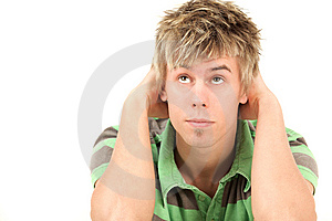 Young Man Looking Up Royalty Free Stock Photography - Image: 13692597