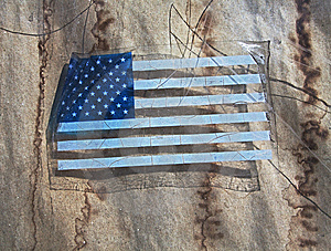American Flag Decal Royalty Free Stock Photo - Image: 13692875