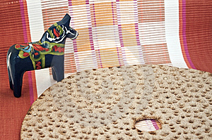 Swedish Bread With Horse And Textile Stock Photo - Image: 13693150