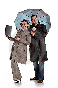 Shocked Coupple Royalty Free Stock Photo - Image: 13693305