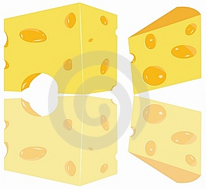 Cheese Pieces Stock Photography - Image: 13696492