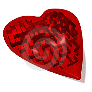 Heart Maze Stock Photo - Image: 13696800