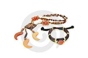 Leather Bracelet And Necklace Stock Photos - Image: 13697153