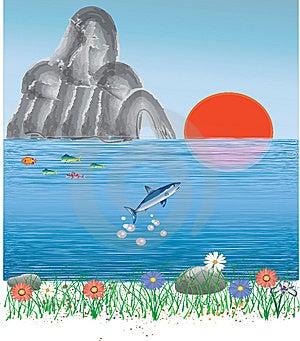 Ocean Sunrise Landscape Stock Photo - Image: 13697210