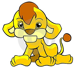 Cute Lion Cub Stock Image - Image: 13697761