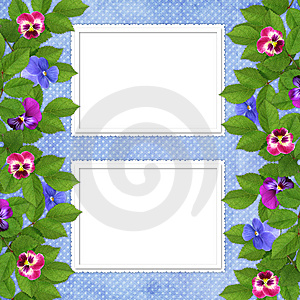 Card For The Holiday  With Flowers Royalty Free Stock Photo - Image: 13699595