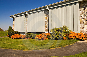 Fall Landscaping Stock Image - Image: 1371821