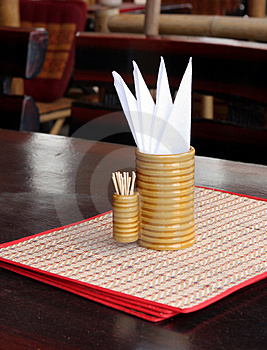 Restaurant Table Royalty Free Stock Photography - Image: 1372017