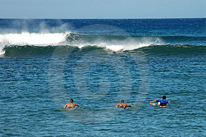 Paddling Out Stock Image - Image: 1379251