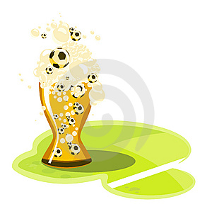 Beer_football Stock Image - Image: 13702221