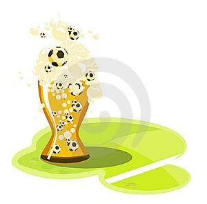 Beer_football Stock Image - Image: 13702221