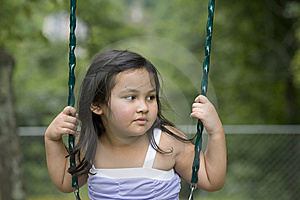 Asian Girl In Swing Royalty Free Stock Images - Image: 13703079