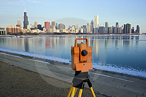 Surveying In Chicago Royalty Free Stock Photos - Image: 13704668