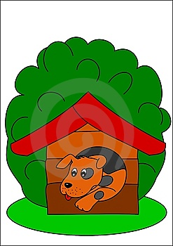 Dog And Kennel Stock Image - Image: 13705931