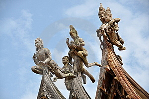 Pattaya, Thailand: Sanctuary Of Truth Carvings Stock Image - Image: 13707131
