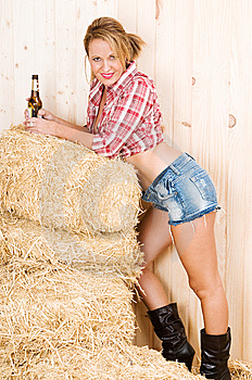 Spice Country Woman In A Barn Stock Photography - Image: 13707562