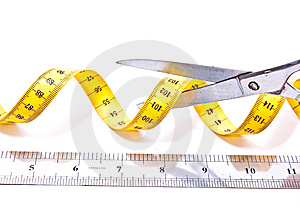 Centimetre And Scissors Royalty Free Stock Images - Image: 13708629