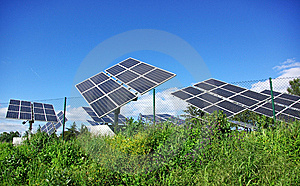 Photovoltaic Panels . Stock Images - Image: 13709194