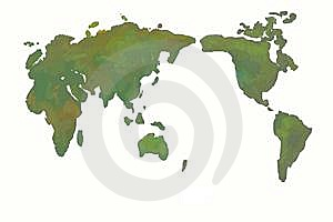 World Map Royalty Free Stock Photo - Image: 13709985
