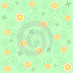 Flowers And Swirls Stock Images - Image: 13710434