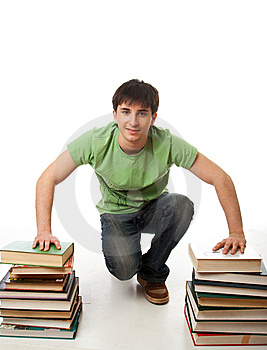The Young Student Isolated On A White Royalty Free Stock Image - Image: 13712766