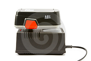 Rechargeable Battery And Charger For Hammer Drill Stock Photos - Image: 13713393