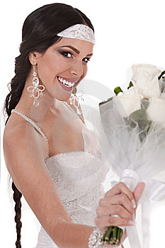 Bride With Wedding Bouquet Stock Images - Image: 13714344