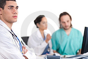 Young Doctor Thinking Deeply Stock Photography - Image: 13714782