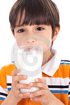 Happy Kid Drinking Glass Of Milk Stock Images - Image: 13715154