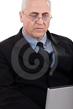 Seriously Working Business Man Royalty Free Stock Photos - Image: 13715238
